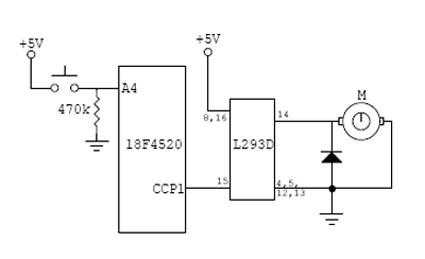 Pwm Motor Control Circuit Diagram   Pic18f4520 Pwm Motor Control Northwestern Mechatronics Wiki