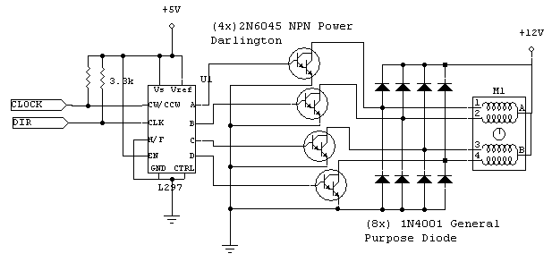 Unipolar stepper circuit schematic.png