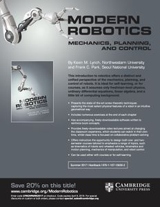 Modern robotics northwestern mechatronics wiki advertising flyer for the book with discount code fandeluxe Choice Image