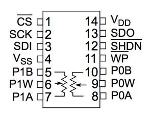 NU32: Using the MCP42X1 SPI Digital Potentiometer