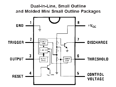 555 Timer on datasheet or data sheet